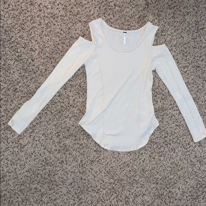 Long sleeve shoulder cut out top